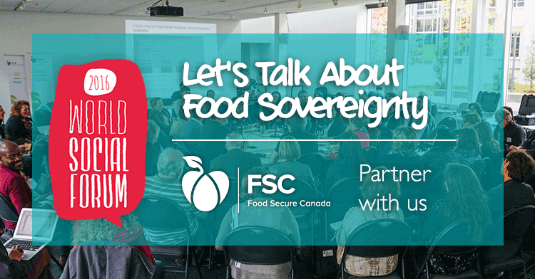 World Social Forum 2016: Let's talk about food sovereignty