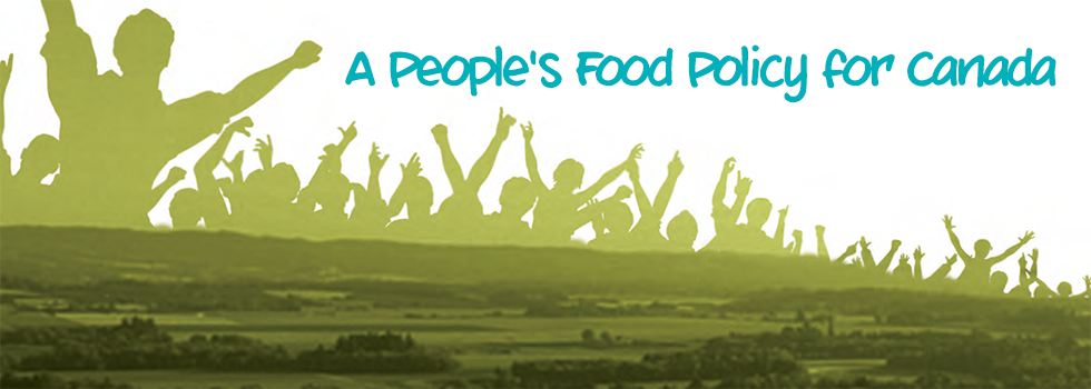 Cover Art for A People's Food Policy for Canada